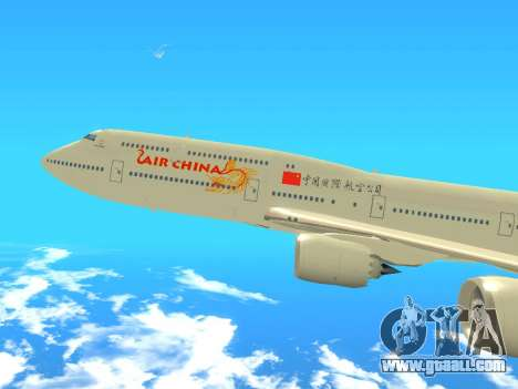 Boeing 747 Air China for GTA San Andreas back left view