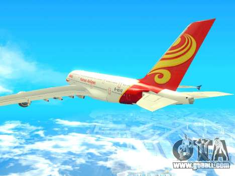 A380-800 Hainan Airlines for GTA San Andreas left view