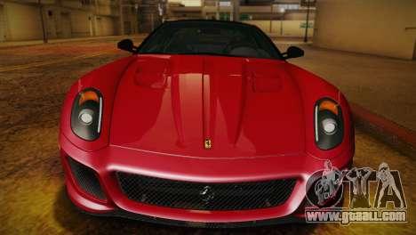 Ferrari 599 GTO 2011 for GTA San Andreas inner view