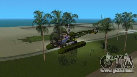 Bell 13H Sioux for GTA Vice City left view