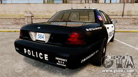 Ford Crown Victoria LCPD [ELS] for GTA 4 back left view