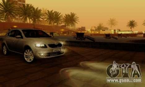 Skoda Octavia A7 for GTA San Andreas interior
