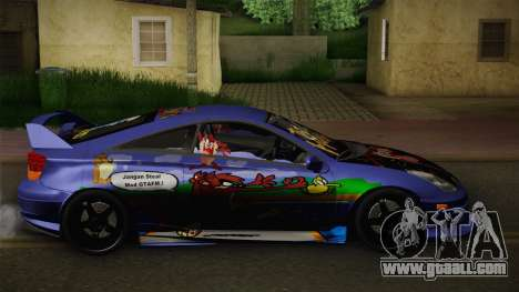 Toyota Celica Taz Mania Street Edition for GTA San Andreas left view
