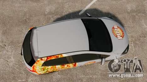 Mazda 2 Pizza Delivery 2011 for GTA 4 right view