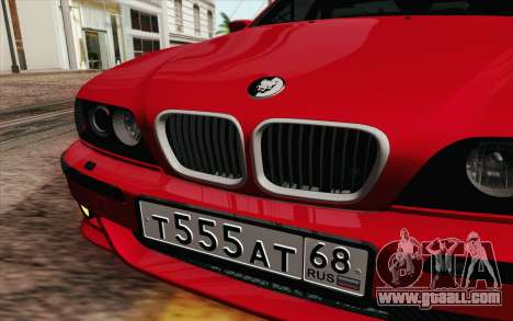 BMW M5 E39 2003 for GTA San Andreas inner view
