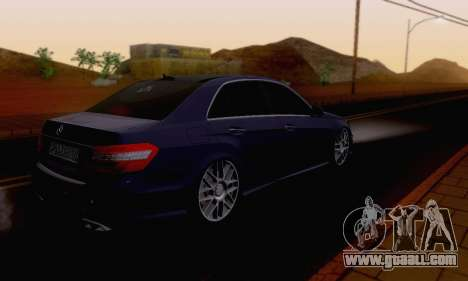 Mercedes-Benz E63 AMG for GTA San Andreas upper view