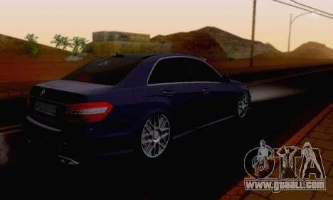 Mercedes-Benz E63 AMG for GTA San Andreas upper view