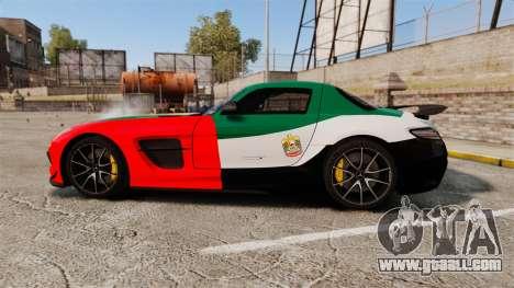Mercedes-Benz SLS 2014 AMG UAE Theme for GTA 4 left view