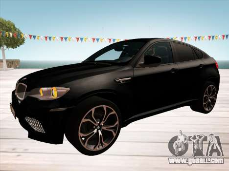 BMW X6M 2010 for GTA San Andreas engine