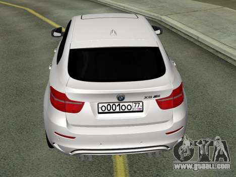 BMW X6M 2010 for GTA San Andreas back left view