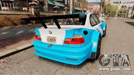 BMW M3 GTR 2012 Most Wanted v1.1 for GTA 4 back left view
