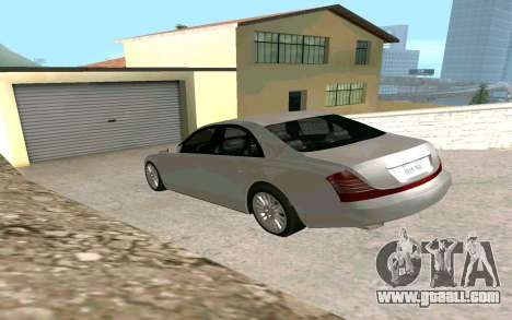 Maybach 57 TT Black Revel for GTA San Andreas left view