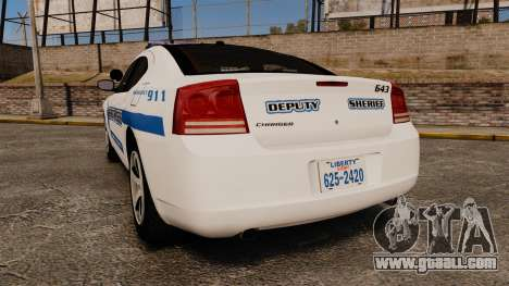Dodge Charger 2010 Liberty County Sheriff [ELS] for GTA 4 back left view