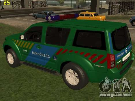 Nissan Pathfinder Police for GTA San Andreas back left view