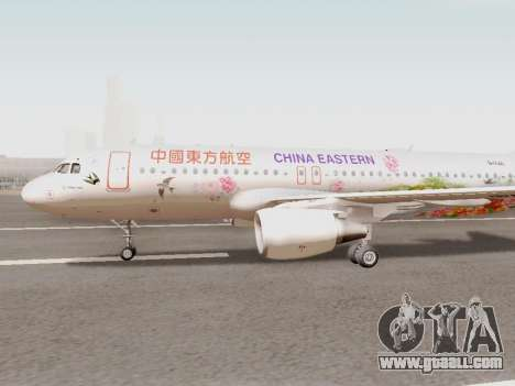 Airbus A320-211 China Eastern for GTA San Andreas left view