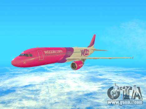 Airbus A320-200 WizzAir for GTA San Andreas left view