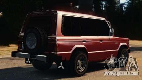Mitsubishi Pajero I WAGON for GTA 4 left view