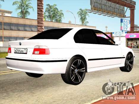 BMW 530d E39 for GTA San Andreas back view