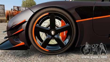 Koenigsegg One:1 for GTA 4 back view
