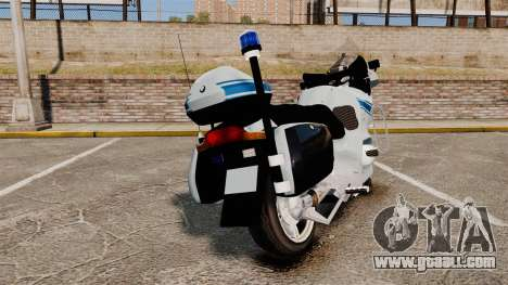 BMW R1150RT Police municipale [ELS] for GTA 4 back left view