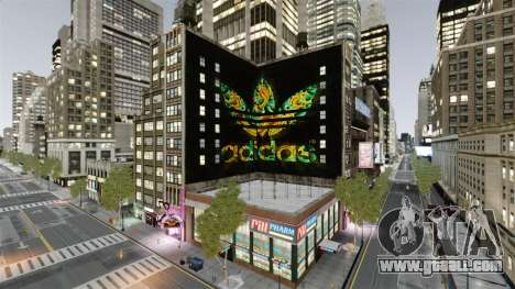 Big advertising Adidas Originals for GTA 4