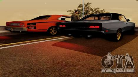 Dodge Coronet RT 1969 440 Six-pack for GTA San Andreas upper view