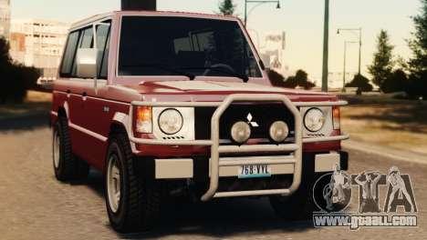 Mitsubishi Pajero I WAGON for GTA 4 back left view