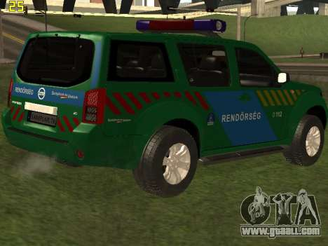 Nissan Pathfinder Police for GTA San Andreas engine