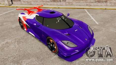 Koenigsegg One:1 for GTA 4 side view