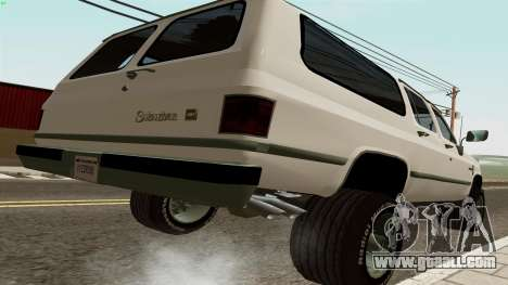 Chevrolet Suburban 2500 1986 for GTA San Andreas back left view