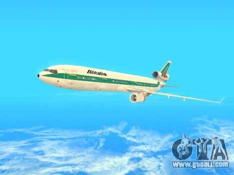 McDonnell Douglas MD-11 Alitalia for GTA San Andreas upper view