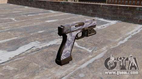 The Pistol Glock 20 Blue Tiger for GTA 4 second screenshot