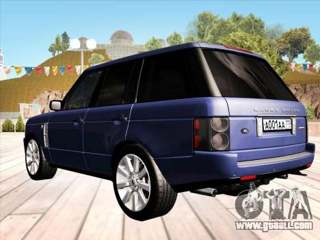 Land Rover Supercharged Stock 2010 V2.0 for GTA San Andreas back left view