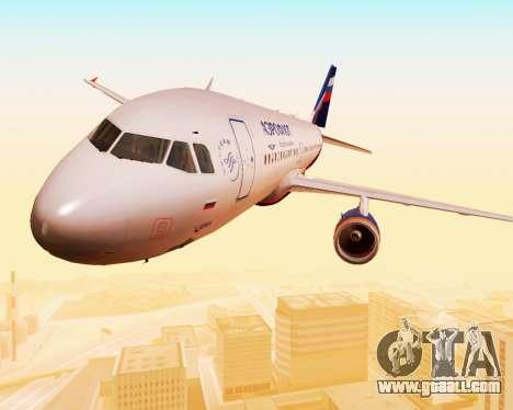 Airbus A320-200 Aeroflot for GTA San Andreas upper view