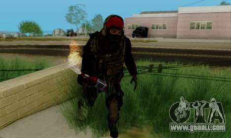 Kopassus Skin 1 for GTA San Andreas fifth screenshot
