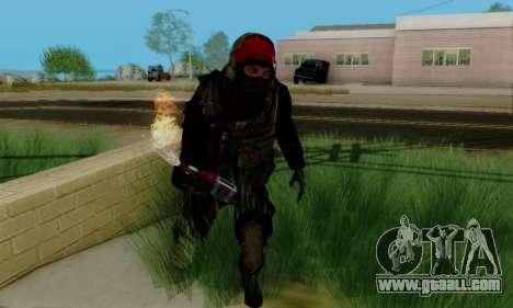 Kopassus Skin 1 for GTA San Andreas fifth screenshot