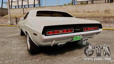 Dodge Challenger 1971 Vanishing Point for GTA 4 back left view