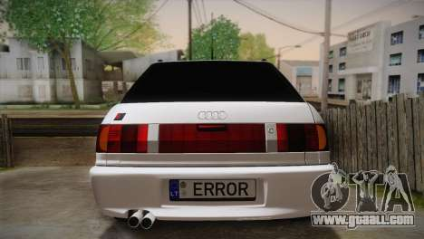 Audi RS2 Avant for GTA San Andreas inner view