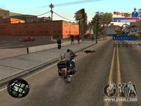 The new C-HUD Ghetto for GTA San Andreas