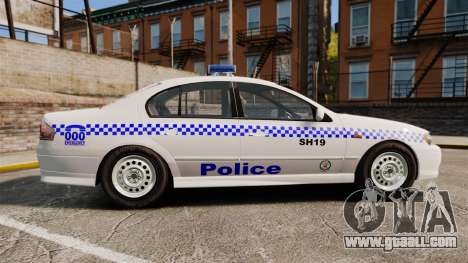 Ford Falcon XR8 Police Western Australia [ELS] for GTA 4 left view
