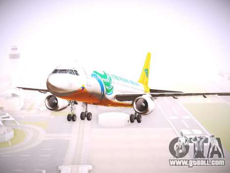 Airbus A320 Cebu Pacific Air for GTA San Andreas back left view