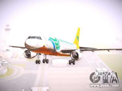Airbus A320 Cebu Pacific Air for GTA San Andreas back left view