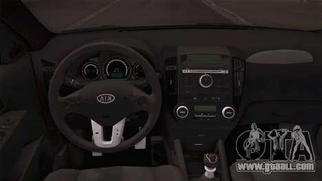 Kia Ceed 2011 SA Plates for GTA San Andreas back view