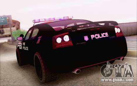 Dodge Charger SRT8 FBI Police for GTA San Andreas left view