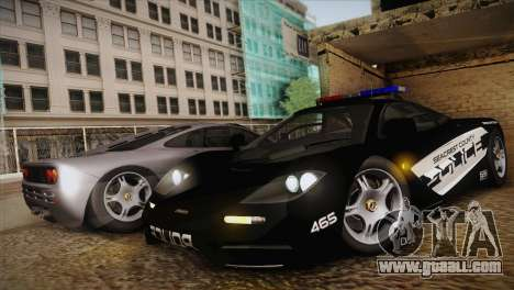 McLaren F1 Police Edition for GTA San Andreas left view