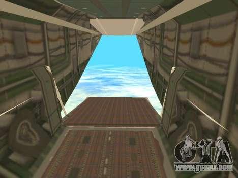 An-22 Antei for GTA San Andreas interior