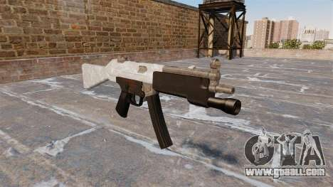 The submachine gun HK MP5 for GTA 4