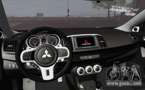 Mitsubishi Lancer Evo X GangLow for GTA San Andreas right view