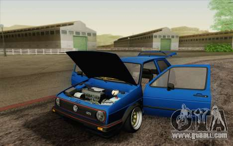 Volkswagen Golf MK2 LowStance for GTA San Andreas upper view