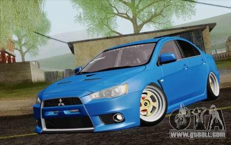Mitsubishi Lancer Evo X GangLow for GTA San Andreas